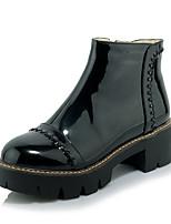 Boots Winter Comfort Leatherette Dress Casual Low Heel Zipper