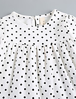 Girl's Casual/Daily Solid Polka Dot Dress Fall Half Sleeve