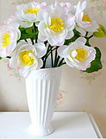 1 Branch Plastic Lotus Tabletop Flower Artificial Flowers 35*35*35