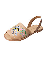 Women's Sandals Summer D'Orsay & Two-Piece Leatherette Dress Casual Flat Heel Animal Print Walking