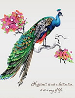 Animals Wall Stickers Plane Wall Stickers Decorative Wall StickersVinyl Material Home Decoration Wall Decal Peacock
