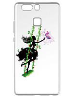 Für Transparent Muster Hülle Rückseitenabdeckung Hülle Spaß mit dem Apple Logo Weich TPU für HuaweiHuawei P9 Huawei P9 Lite Huawei P8