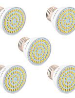 5W GU10 GU5.3(MR16) E26/E27 Spot LED 54 SMD 2835 400-500 lm Blanc Chaud Blanc Froid Blanc Naturel Décorative V 5 pièces