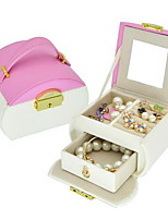 קופסאות תכשיטים PU עור עםמאפיין הוא עם מכסה , ל תכשיטים