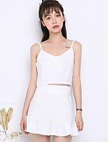 Sign summer new Korean female waist camisole suit was thin package hip skirt piece