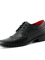 Men's Oxfords Spring Summer Fall Winter Comfort Nappa Leather Office & Career Party & Evening Casual Black