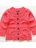 Casual/Daily Solid Blouse,Cotton Winter Fall Long Sleeve Regular
