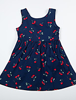 Girl's Casual/Daily Floral Print Dress,Cotton Summer Sleeveless