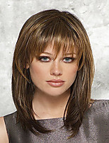 Fashion Brown Color Straight Wigs European Synthetic Wig