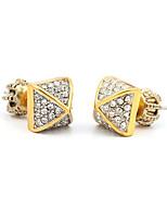 Boucles d'oreille goujon Cristal Adorable Personnalisé euroaméricains Simple Style Argent Bijoux Pour Mariage Soirée Anniversaire 1 paire