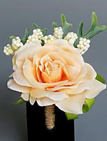Свадебные цветы В свободной форме Розы Бутоньерки Свадьба Партия / Вечерняя Атлас