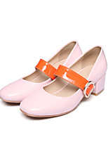 Women's Shoes Leatherette Spring Fall Basic Pump Heels For Casual Dress White Black Blushing Pink Almond