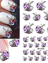 10pcs/set Autocollant d'art de clou Autocollants de transfert de l'eau Maquillage cosmétique Nail Art Design