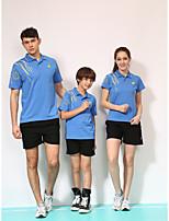 Unisex Half Sleeve Tennis Clothing Sets/Suits Shorts Quick Dry Comfortable Yellow Red Blue Orange Black Badminton