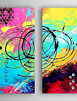 Hand-Painted  Abstract Set of 2 Canvas Oil Painting With Stretcher For Home Decoration Ready to Hang