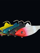 2 pcs Soft Bait Random Colors g/Ounce mm inch,Plastic General Fishing