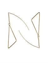 Drop Earrings Alloy Euramerican Fashion Triangle Shape Gold Jewelry Wedding Party Halloween Daily Casual Sports 1 pair