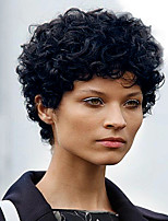 Ripe New Style Black Short Curly Hair  Synthetic Wig  Woman hair