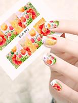 10pcs/set Sweet Style Nail Art Water Transfer Decals Beautiful Flower Design Beautiful Flower Nail Beauty Sticker STZ-093