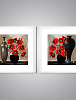 Canvas Prints Poppy Flowers Painting Picture Print on Canvas with White Frame for Livingroom Decoration