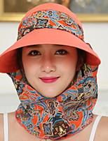 Для женщин Винтаж На каждый день Шляпа от солнца,Лето Полиэстер С принтом
