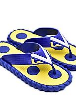 Желтый Коричневый Синий-Для мужчин-Повседневный-Резина-На плоской подошве-Босоножки-Тапочки и Шлепанцы