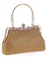 L.WEST Woman Fashion Diamonds Flower Evening Bag