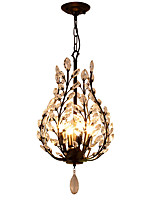 LightMyself 4Lights Crystal Chandelier Modern/Contemporary Traditional/Classic Rustic/Lodge Vintage Retro Lantern Country Antique Brass Feature