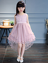 Девичий Платье На выход На каждый день Искусственный шёлк Однотонный Лето Без рукавов