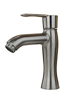 Country Art Deco/Retro Modern Standard Spout Centerset Widespread with  Ceramic Valve Single Handle One Hole for  Stainless Steel ,