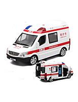 Ambulance Vehicle Pull Back Vehicles 1:32 Plastic White