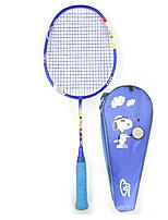 Badmintonschläger 50.0*20.0*5.0 Unverformbar Hochelastisch Dauerhaft Leichtes Gewicht für Draußen Legere Sport Kohlefaser