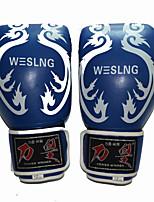 10 унций 12 унций 14 унций Боксерские перчатки для Бокс Полный палец Дышащий Износостойкий Защитный PU Черный Красный Синий