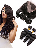 Natural Color Hair Weaves 12 Months 4 Pieces hair weaves