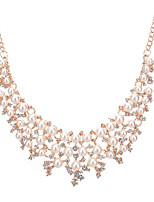 Ожерелье Искусственный жемчуг Стразы Ожерелья-бархатки Заявление ожерелья Бижутерия Свадьба Для вечеринок ОбручениеКруглой формы