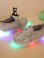 LED's Shoes Girls' Loafers & Slip-Ons Spring Fall Light Up Shoes Flower Girl Shoes Synthetic Party & Evening Dress Casual Flat Heel Sequin