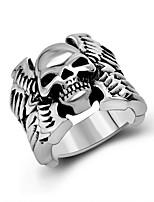 Кольцо Euramerican Титановая сталь Серебряный Бижутерия Для Повседневные 1шт