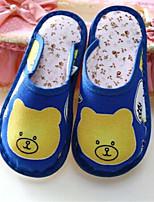 Синий-Девочки-Для прогулок Повседневный-Полотно-На плоской подошве-Удобная обувь-Сандалии
