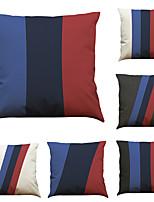Set of 6 Classic Geometry Pattern   Linen Pillowcase Sofa Home Decor Cushion Cover (18*18inch)