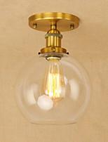 Lampe suspendue ,  Retro Rustique Globe Plaqué Fonctionnalité for Style mini Designers MétalSalle de séjour Chambre à coucher Salle à
