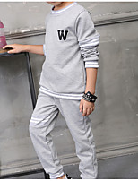 Boys' Casual/Daily Solid Sets,Cotton Fall Clothing Set
