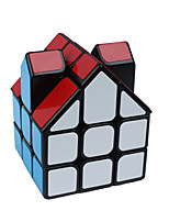 Shaped Magic Cube House Dual Smokestack Black