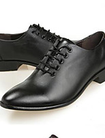Men's Oxfords Spring Fall Winter Comfort Leather Office & Career Casual Black Coffee