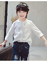 Girl Going out Casual/Daily Solid Shirt,Rayon Spring Fall Long Sleeve Regular