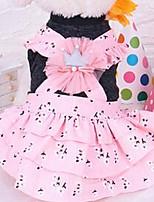 Chien Robe Vêtements pour Chien Eté Princesse Mignon Mode Décontracté / Quotidien Rose Bleu clair