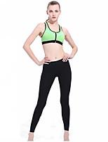 Pantalon de yoga Collants Respirable Elastique Doux Confortable Taille moyenne Haute élasticité Vêtements de sport Femme Yoga