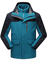 LEIBINDI® Men's Winter Jacket 3-in-1 Jackets Skiing Climbing Outdoor Sport Hiking Snowsports Waterproof Windproof Thermal / Warm Windproof