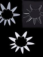 1bag/ 500 pcs Stiletto Point Shape Natural White Acrylic French False Nail UV Gel DIY Nail Tips