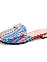 Women's Slippers & Flip-Flops Summer Comfort Slingback Fabric Dress Casual Low Heel Yellow Red Blue Walking