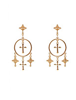 Dangle Earrings Jewelry Alloy Dangling Style Pendant Fashion Vintage Cross Euramerican Statement Jewelry Cross Gold Silvery JewelryParty